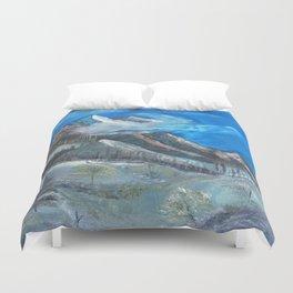 Cloudy Mountaintop Duvet Cover