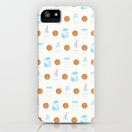 Milk and Cookies Pattern on Cream iPhone Case