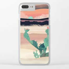 Desert Dawn Clear iPhone Case
