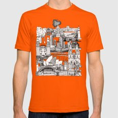 AUSTRALIA toile de jouy MEDIUM Orange Mens Fitted Tee