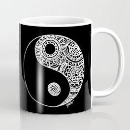Black and White Lace Yin Yang Coffee Mug