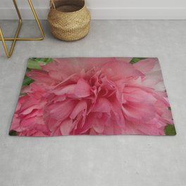 Rose Pink Peony by Teresa Thompson Rug