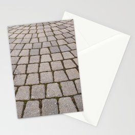 Radial Pavement Tiles Stationery Cards