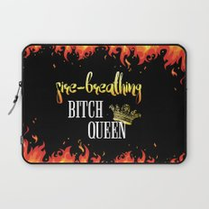 Fire Breathing Bitch Queen Design Laptop Sleeve