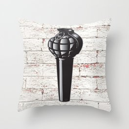 ...microphonic fragmentality... by rmd Throw Pillow
