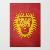 lannister Canvas Prints featuring House Lannister - Hear Me Roar by Jack Howse