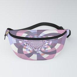 Mauve Lavender Puce Kaleidoscope Fanny Pack