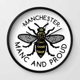 Manchester Bee Manc And Proud Wall Clock
