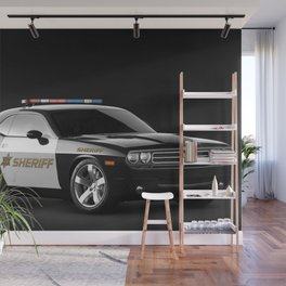 Challenger Sheriff Highway Patrol Police Car Wall Mural