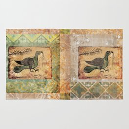 Painted Bird Rug