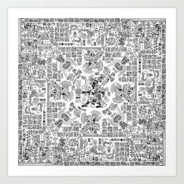Mayan Spring B&W Art Print