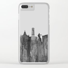 Aberdeen, Scotland Skyline - Navaho B&W Clear iPhone Case