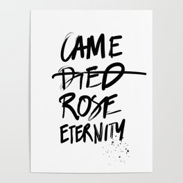 #JESUS2019 - Came Died Rose Eternity (black) Poster