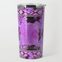 PURPLE AMETHYST FEBRUARY GEM BIRTHSTONES MODERN ART DESIGN Travel Mug