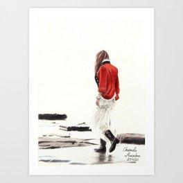 A walk at solitude Art Print