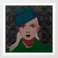 noir Art Prints featuring Noir by Eveline