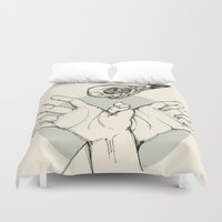 raven Duvet Covers featuring Raven by Marie Toh