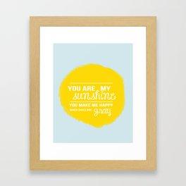 You Are My Sunshine - Child's Art Print Framed Art Print