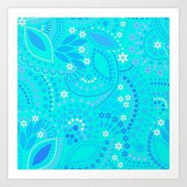 #neon #bright ,  mint neon pattern Art Print