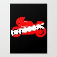 ducati Canvas Prints featuring Ducati by Colioni