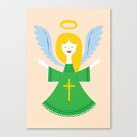 angel Canvas Prints featuring Angel by Wharton