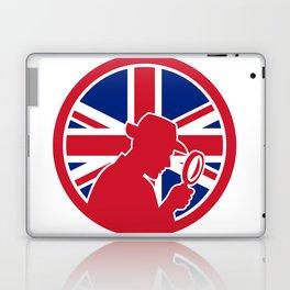 British Private Investigator Union Jack Flag Icon Laptop & iPad Skin
