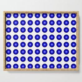 Bullseye -- Blue Serving Tray