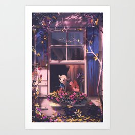 in the summer Art Print