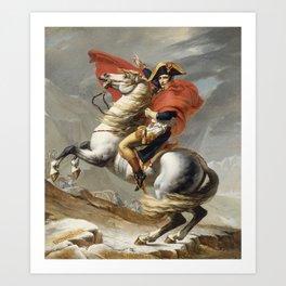 Jacques Louis David - Bonaparte Crossing The Grand Saint Bernard Art Print
