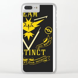 Team Instinct GO Clear iPhone Case
