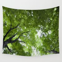 jewish Wall Tapestries featuring Leaves and Lace by Brown Eyed Lady