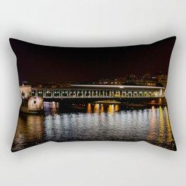 Metro on Point Bir-Hakeim at night Rectangular Pillow