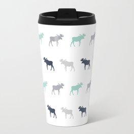 Moose pattern minimal nursery basic grey and white camping cabin chalet decor Travel Mug