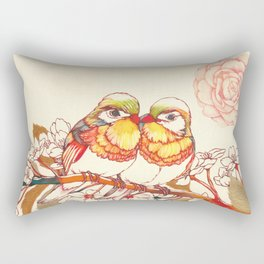 Lovebirds Rectangular Pillow