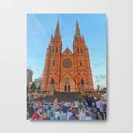 St Mary's Cathedral, Sydney Metal Print
