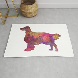 English Setter in watercolor Rug