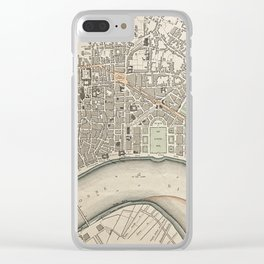 19th Century Topographical Vintage Antique Map Bordeaux France Steampunk Clear iPhone Case