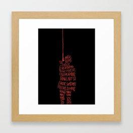 Tyler Joseph Music Quote Framed Art Print
