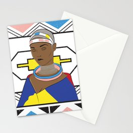 Ndebele Woman Stationery Cards