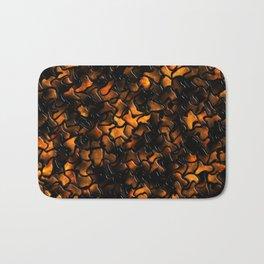 Ancient Amber Wobbly Mosaic Tiles Bath Mat