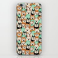 shiba iPhone & iPod Skins featuring Shiba Inu by Modify New York
