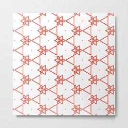 Modern minimalist Orange And White Geometric Pattern Metal Print