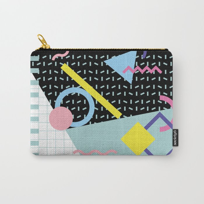 Memphis Pattern 6 - 80s - 90s - Retro Carry-All Pouch by graphicwavedesign