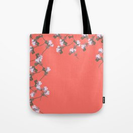 Roses Collage, Living-coral, floral, flowers, leaves, botanical, pattern, decor, art, society6 Tote Bag