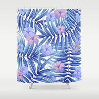 hawaiian Shower Curtains featuring Hawaiian Pattern by Marta Olga Klara