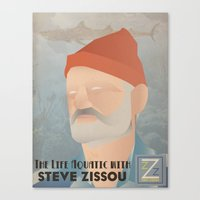 zissou Canvas Prints featuring Zissou by Jake Jones