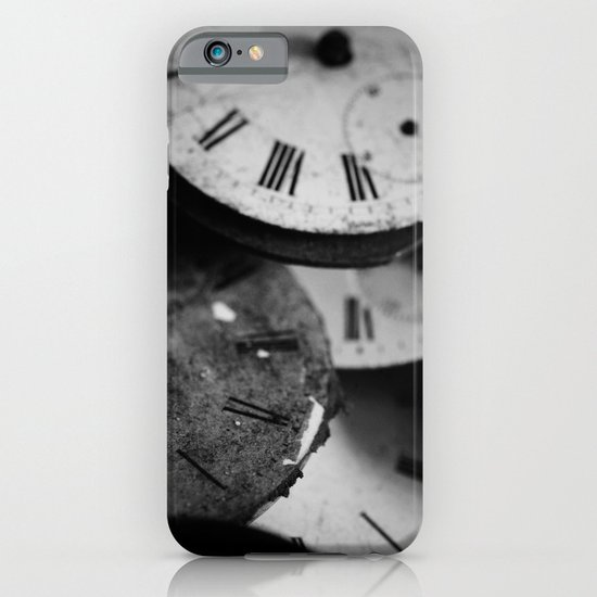 Time - Black and White iPhone & iPod Case