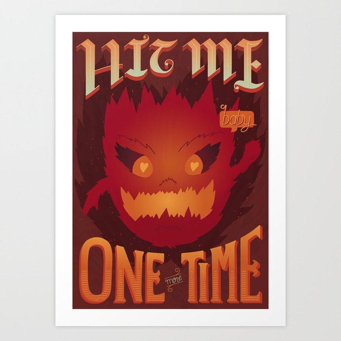 Heat (Final Fantasy Bomb) Art Print