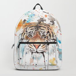 "Watercolor Painting of Picture ""Portrait of a Tiger"" Backpack"