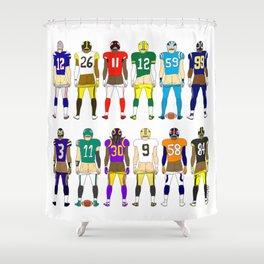Football Butts Shower Curtain